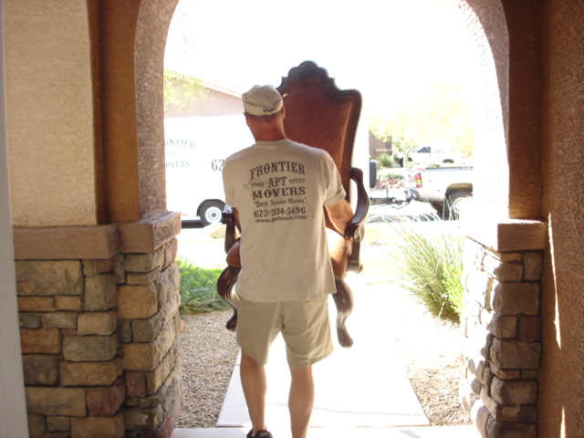Mover with chair when moving a client from Phoenix to Prescott